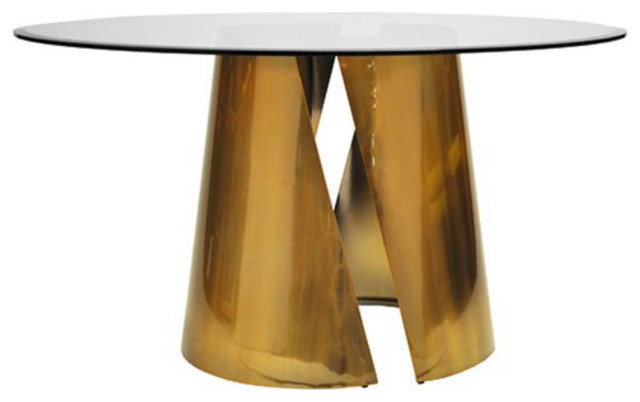 Worlds Away Portia Round Dining Table Contemporary Dining Tables By Matthew Izzo