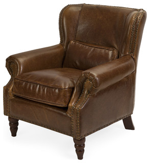Christopher Leather Club Chair