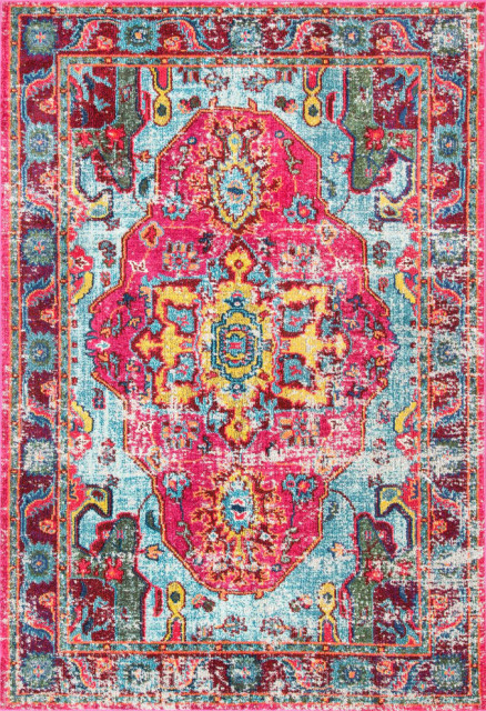 """Mosaic Medallion Area Rug, Multi, 7'10""""x11'"""