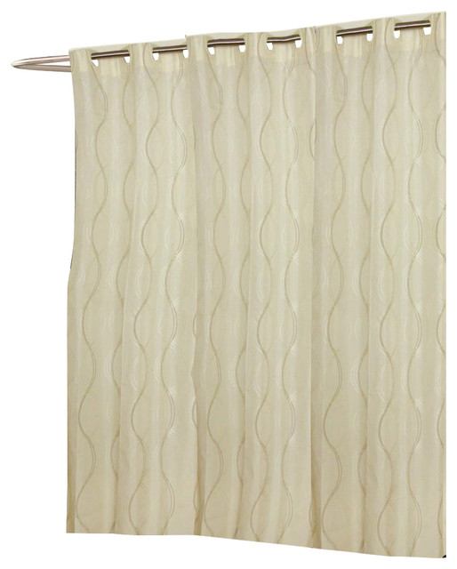 Carnation Home Extra Wide EZ ON Bristol Polyester Shower Curtain
