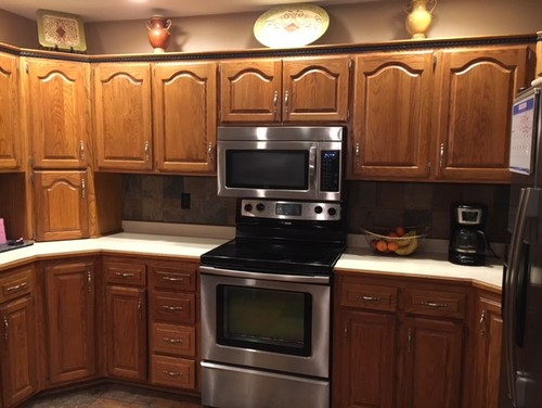 Golden Oak Cabinets Are Unfortunately Staying But What Granite Color?