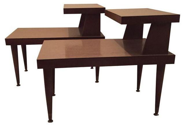 Mersman Midcentury Step Side Tables, Set Of 2