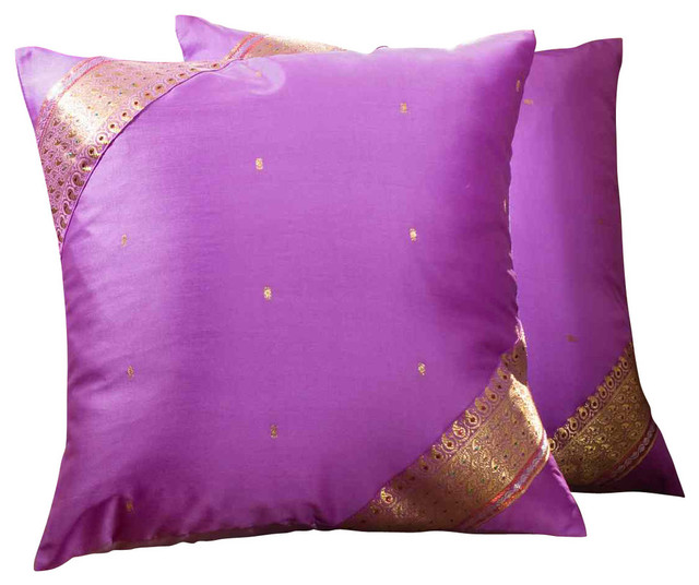 Traditional Pillow Size : Lavender- Handcrafted Cushion Cover, Throw Pillow Case Euro Sham-6 Sizes - Traditional ...