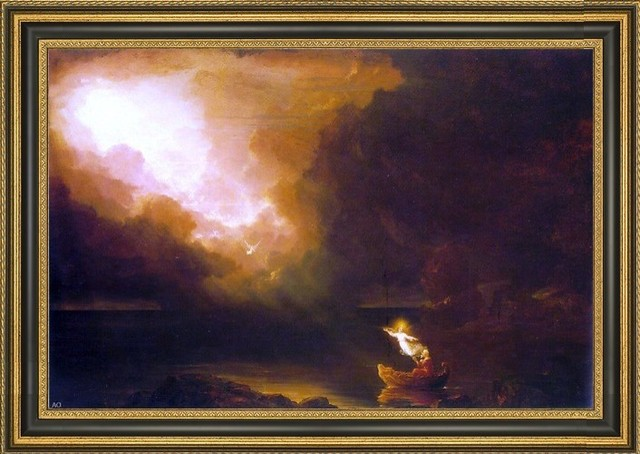 613a2735b9 Thomas Cole the Voyage of Life: Old Age Framed Premium Canvas Print -  Traditional - Prints And Posters - by Art MegaMart