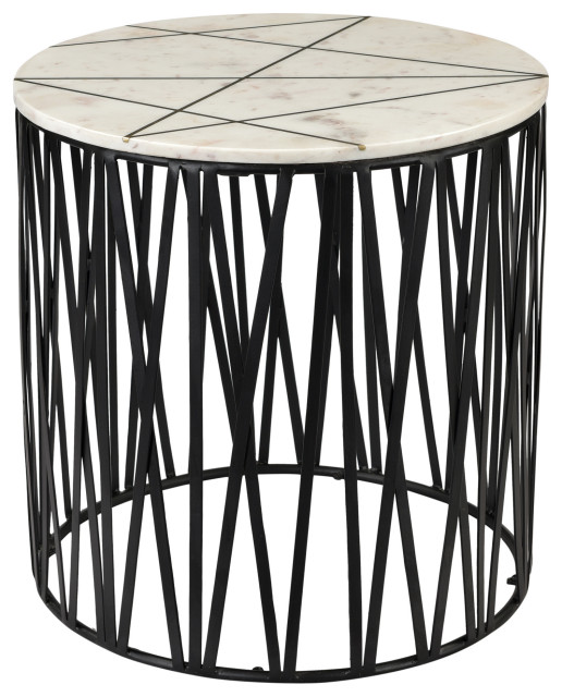 Calcutta Side Table Transitional Side Tables And End