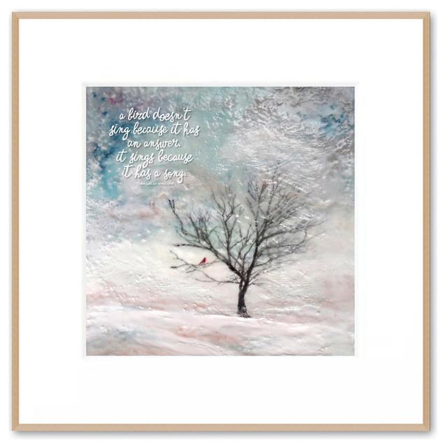 Inspirational Winter Tree Art \
