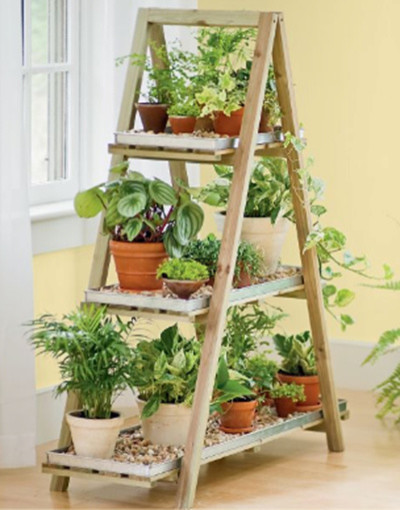 A-Frame Plant Stand Set contemporary indoor pots and planters