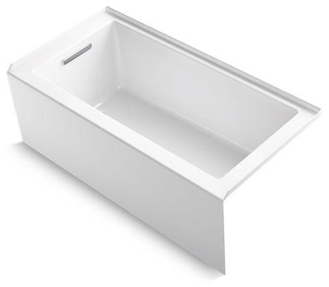 "Kohler Underscore 60"" X 30"" Alcove Bath w/ Left-Hand Drain, White"