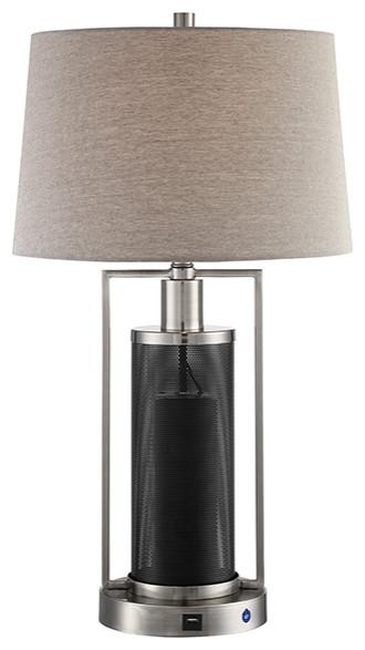 Tobias Table Lamp With Wireless Speaker, Doe Li Touch Lamp