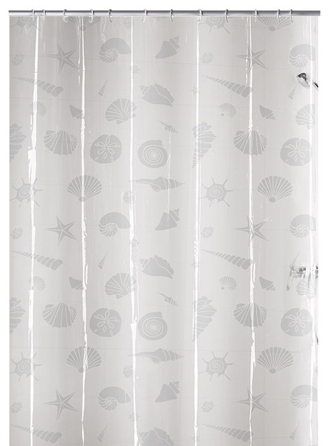 Clear PVC Free Shower Curtain Starfish