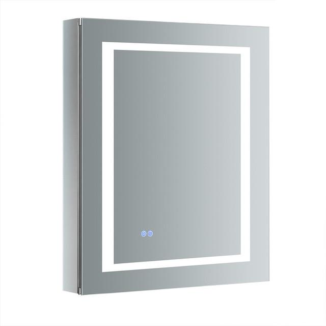 "Spazio 24""x30"" Bathroom Medicine Cabinet With Led Lighting And Defogger, Mirror."