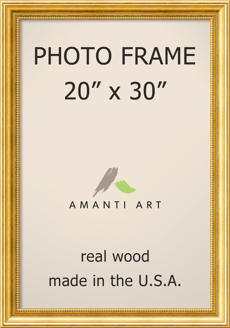 """Picture / Photo Frame 20""""x30, Townhouse Gold, Outer Size 24""""x34"""""""