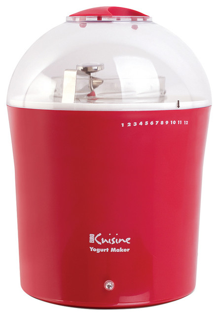 The euro cuisine yogurt maker set red contemporary specialty small kitchen appliances by - Euro kitchen appliances ...