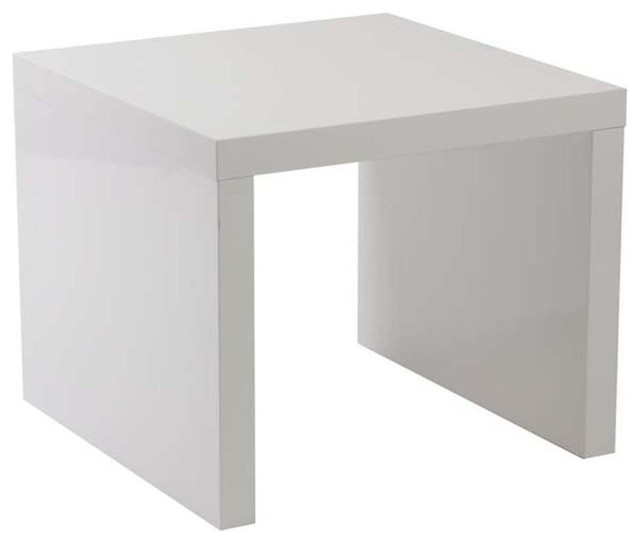White Side Tables eurostyle abby square side table in white - modern - side tables