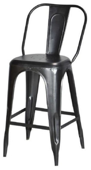 Stool, Raw Metal, Bar Height