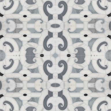 Michael S Smith Cosmati Stone Mosaic Tile - Ann Sacks Tile & Stone traditional bathroom tile