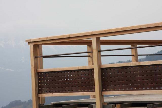 garde corps ext rieur acier aspect rouille et m l ze. Black Bedroom Furniture Sets. Home Design Ideas