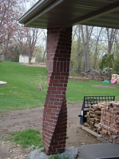 Brick And Stone Columns : Twisted column traditional minneapolis by hardline