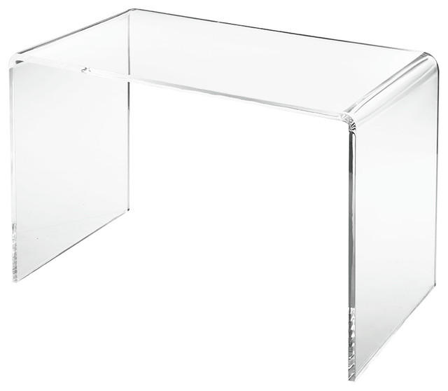 Lucy Acrylic Waterfall Desk Contemporary Desks And Hutches - Acrylic waterfall table