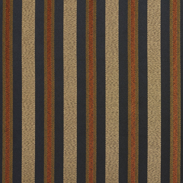 Black Gold Green Orange Striped Damask Upholstery And Drapery Fabric ...