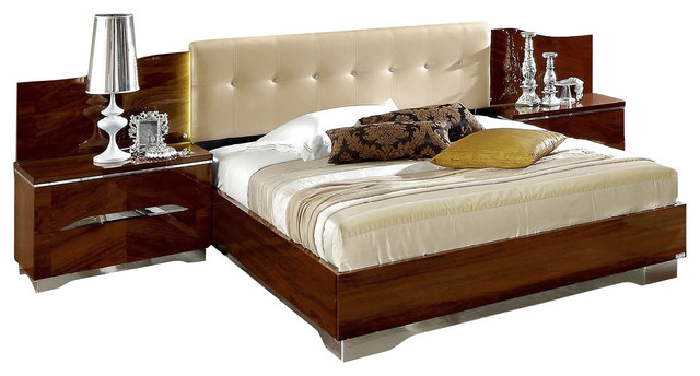 Matrix Bedroom Set Composition 7 By Camelgroup, Italy, Qs Bed + 2  Nightstands Contemporary