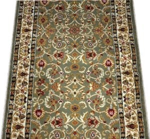 Dean Classic Keshan Sage Green Carpet Rug Runner   Sold By The Foot  Traditional Hall