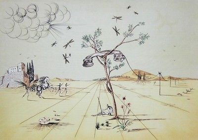 Telephone Limited Edition Offset Lithograph Salvador Dali