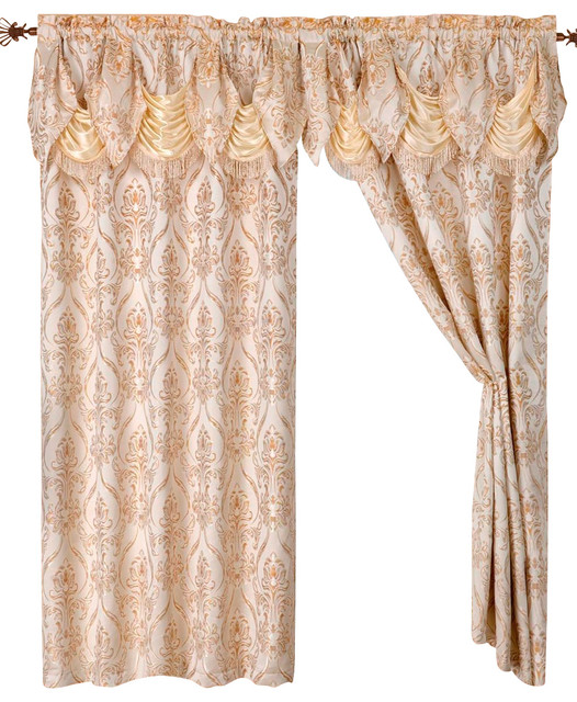 Curtains Ideas austrian valances curtains : Brown's Linens and Window Coverings Penelope Curtain Panels With ...