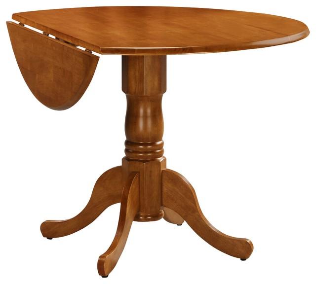 Shop Houzz International Concepts Round Dual Drop Leaf Pedestal Table Din
