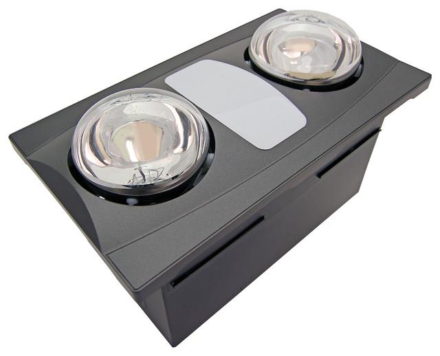 2 Bulb Quiet Bathroom Heater Fan With Light.