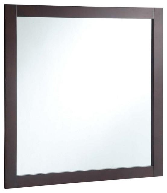 Vanity Mirror, Espresso, 30 by Design House