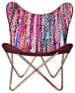 Butterfly Chair With Chindi Cover
