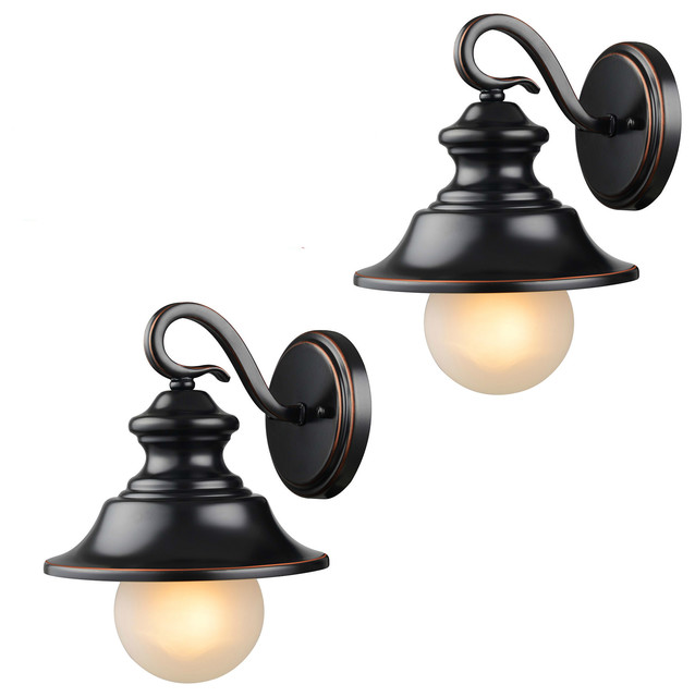 Oil Rubbed Bronze Outdoor Patio/Porch Exterior Light Fixtures, Set ...