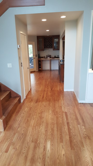 Red oak wood flooring nutmeg duraseal stain boise by for Wooden flooring dealers