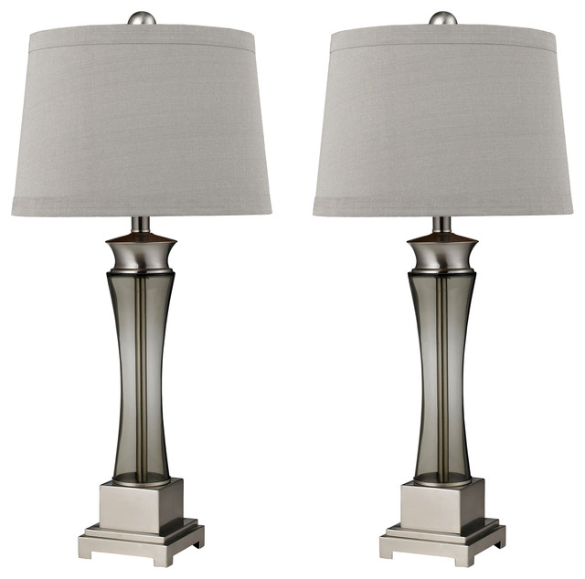 Onassis 1 Light Table Lamp, Nickel Transitional Lamp Sets