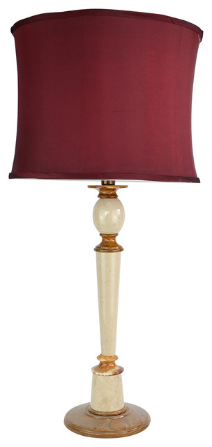"""32"""" Tall Onyx Table Lamp """"Plumefall"""", Chartreuse"""