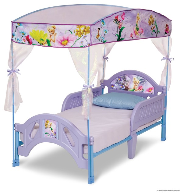 Disney Fairies Canopy Toddler Bed by Delta modern-toddler-beds  sc 1 st  Houzz & Disney Fairies Canopy Toddler Bed by Delta u0026 Reviews | Houzz