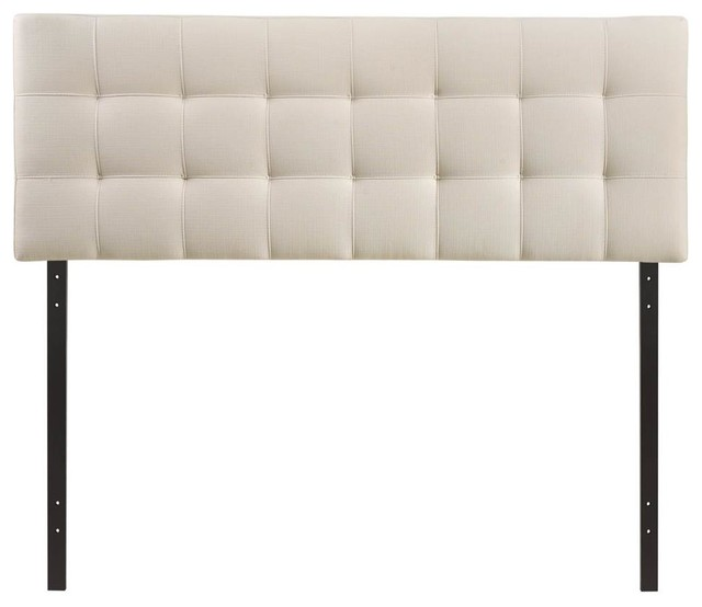"Fabric Headboard, Ivory, Queen, 61.5""x3.5""x52.5""."