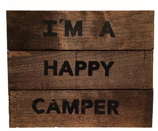 "Happy Camper"" Wood Sign - Rustic - Novelty Signs - by upnorth gifts"