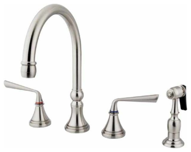classic silver satin nickel kitchen faucet traditional kitchen faucets by interior clue