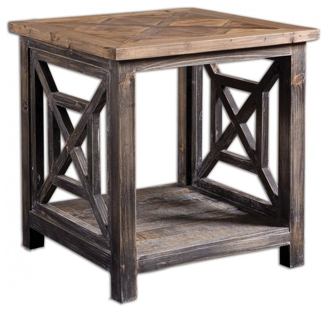Uttermost 24263 Spiro Reclaimed Wood End Table