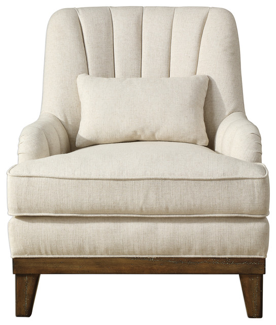 Astonishing Uttermost Denney Oatmeal Accent Chair Home Remodeling Inspirations Propsscottssportslandcom
