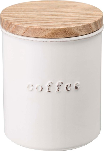 Tosca Ceramic Canister Coffee White