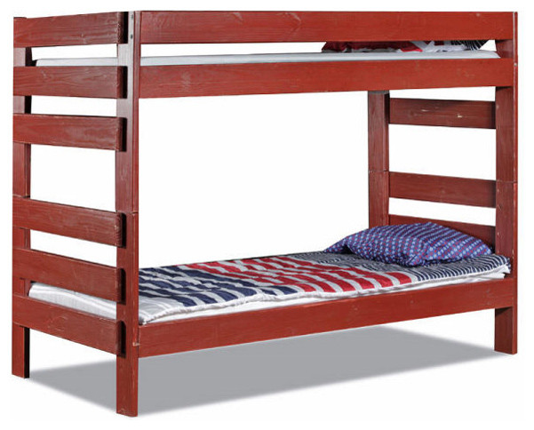 Tribeca Extra Long Twin Over Colored Bunk Bed Barn Contemporary Beds