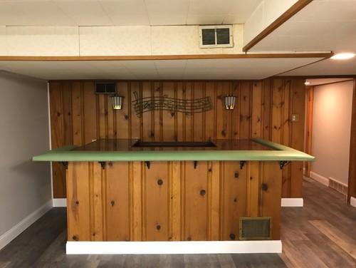 Knotty Pine Bar Area Ideas