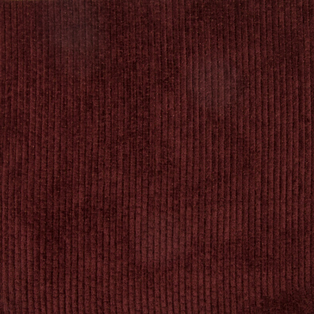 Wine Red Burgundy Solid Stripe Chenille Upholstery Fabric