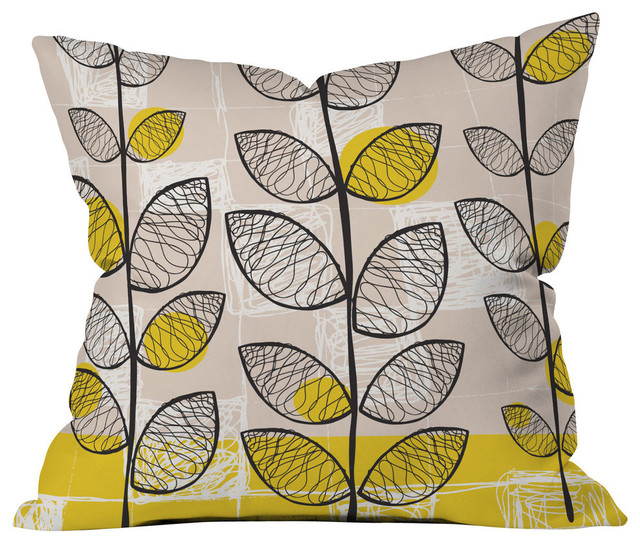 Rachael Taylor 50s Inspired Outdoor Throw Pillow