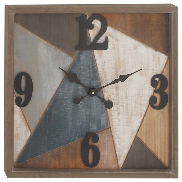 Gwg Outlet Wooden Metal Wall Clock 19 X19 Rustic Wall Clocks