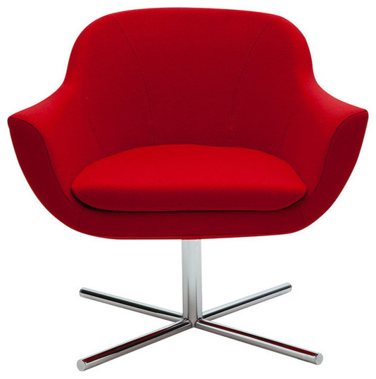 B t design green swivel lounge chair view in your room for Modern swivel accent chair