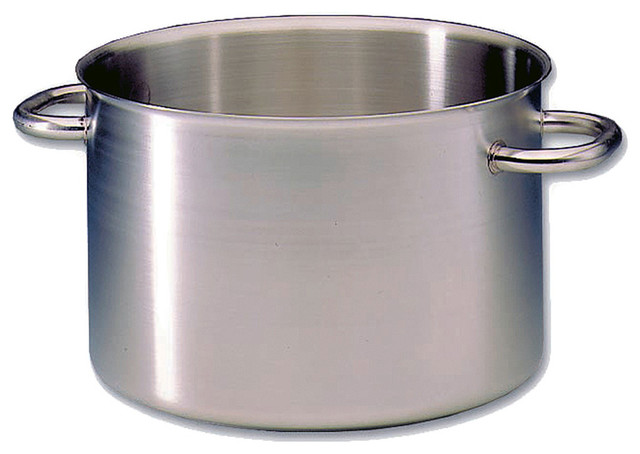 Matfer Bourgeat Excellence Half Stock Pot Without Lid, 19 Qt. Stainless Steel.